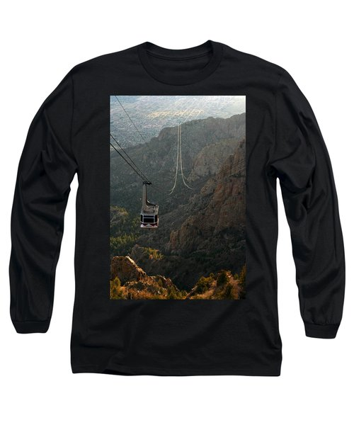 Sandia Peak Cable Car Long Sleeve T-Shirt by Joe Kozlowski