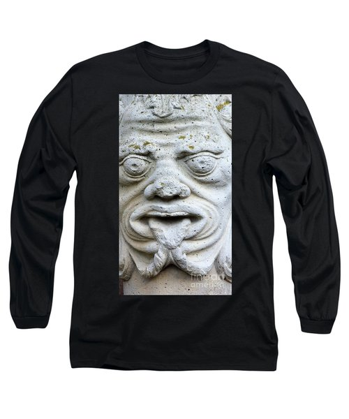 Sandstone Sculpture At The Main Entrance Of The Corvey Monastery Long Sleeve T-Shirt