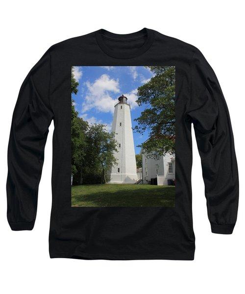 Sandy Hook Lighthouse Tower Long Sleeve T-Shirt