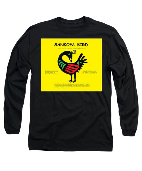Sankofa Bird Of Knowledge Long Sleeve T-Shirt