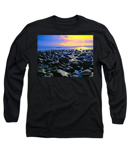 Santa Barbara Beach Sunset California Long Sleeve T-Shirt