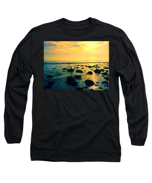 Santa Barbara California Ocean Sunset Long Sleeve T-Shirt