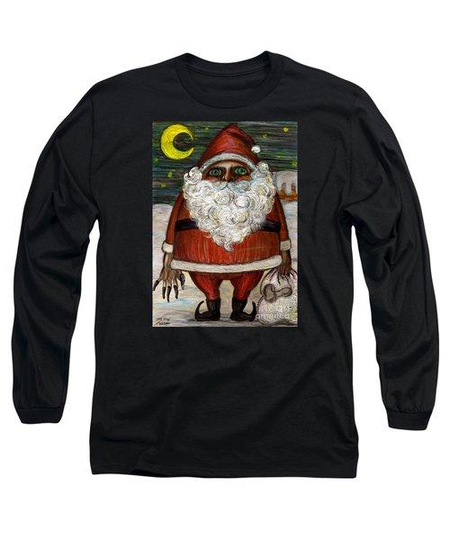 Santa Claus By Akiko Long Sleeve T-Shirt by Akiko Okabe