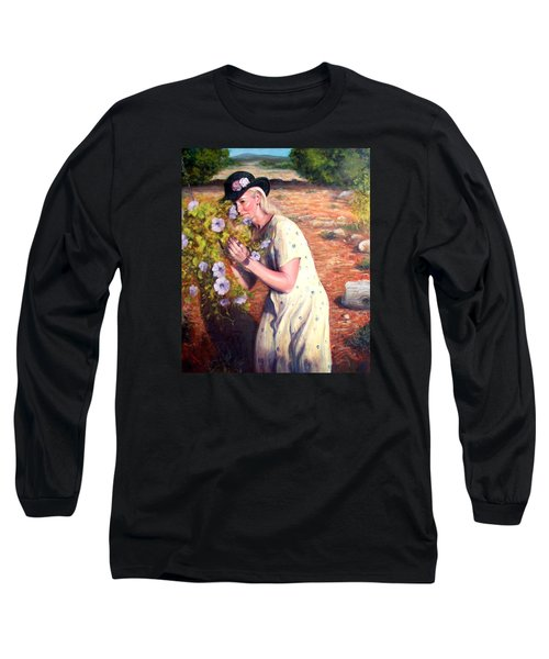 Santa Fe Garden 2   Long Sleeve T-Shirt by Donelli  DiMaria