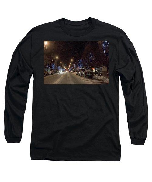Santa Visits Bradford Long Sleeve T-Shirt by Wade Aiken