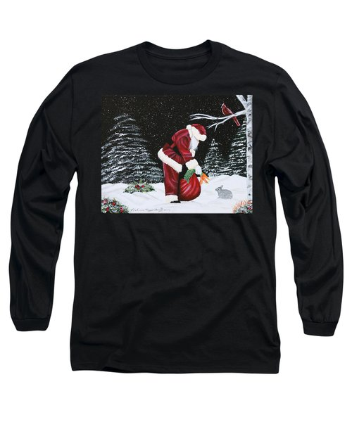 Santa Loves All Creatures Long Sleeve T-Shirt
