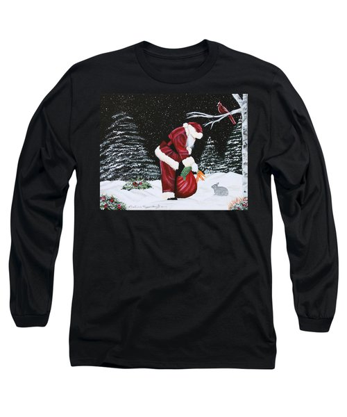Santa Loves All Creatures Long Sleeve T-Shirt