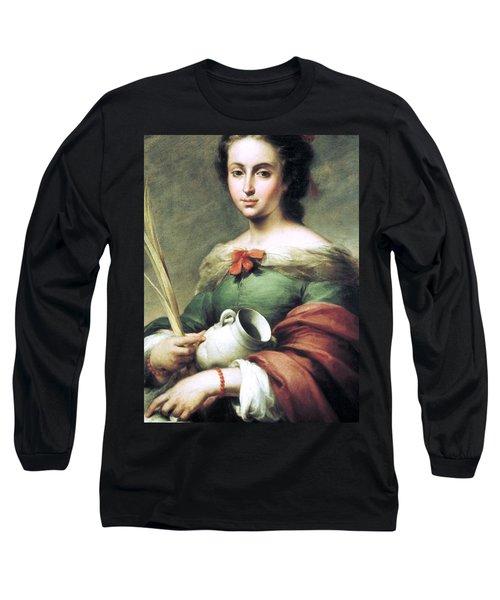 Santa Rufina Long Sleeve T-Shirt by Pg Reproductions