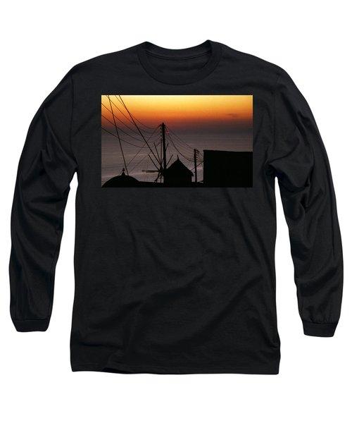 Santorini Long Sleeve T-Shirt by David Gilbert