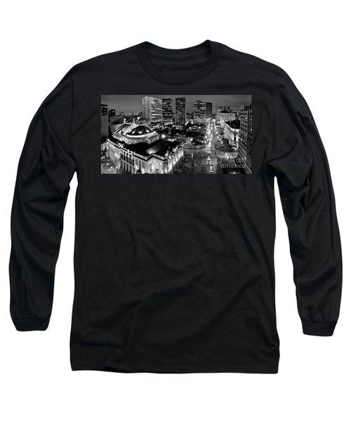 Sao Paulo Downtown - Viaduto Do Cha And Around Long Sleeve T-Shirt