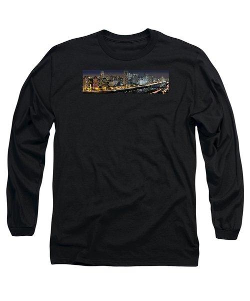 Sao Paulo Iconic Skyline - Cable-stayed Bridge  Long Sleeve T-Shirt