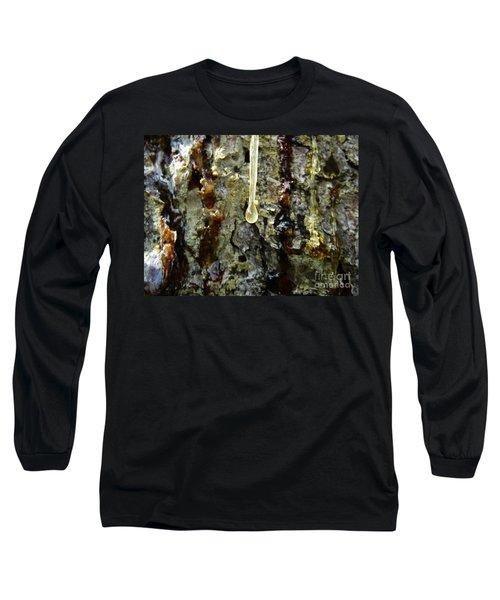 Long Sleeve T-Shirt featuring the photograph Sap Drip by Robert Knight