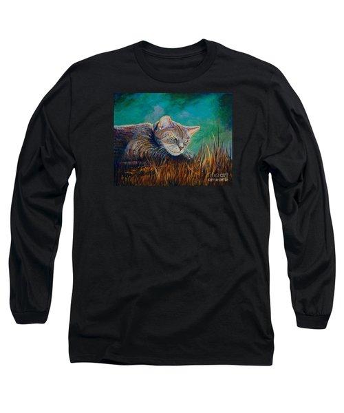 Saphira's Lawn Long Sleeve T-Shirt by AnnaJo Vahle