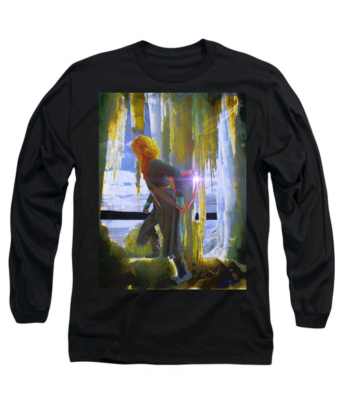 Long Sleeve T-Shirt featuring the photograph Sarkis Passes Through The Ice Curtain II by Anastasia Savage Ealy