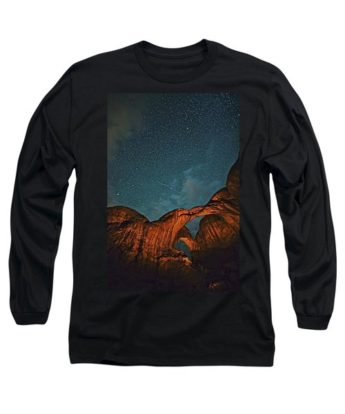 Satellites Crossing In The Night Long Sleeve T-Shirt