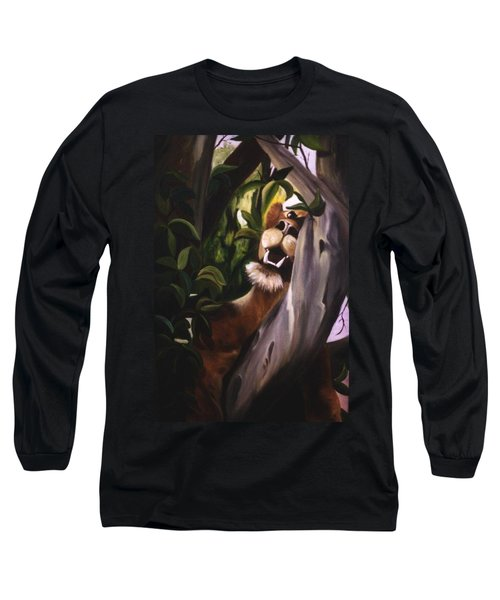 Long Sleeve T-Shirt featuring the painting Satisfied by Renate Nadi Wesley