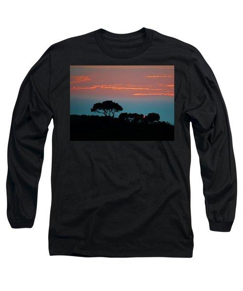 Savannah Sunset Long Sleeve T-Shirt by William Bartholomew