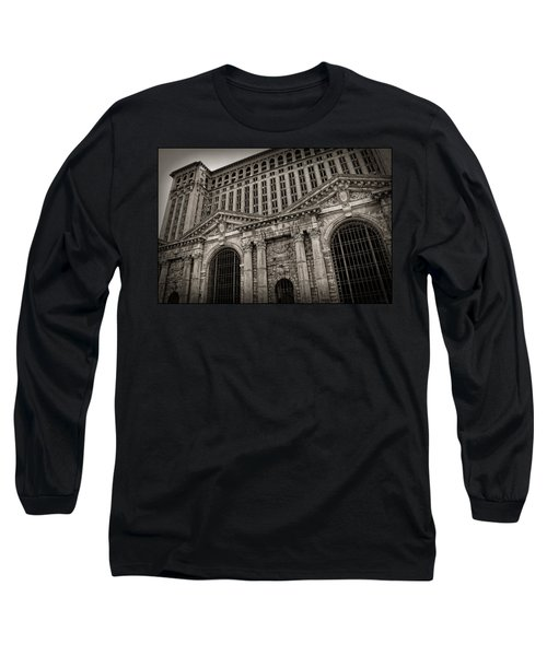 Save The Depot - Michigan Central Station Corktown - Detroit Michigan Long Sleeve T-Shirt by Gordon Dean II