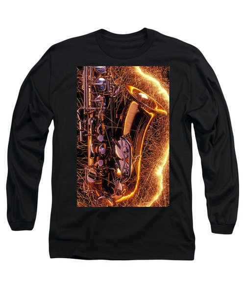 Sax With Sparks Long Sleeve T-Shirt