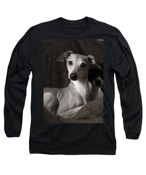 Say What Italian Greyhound Long Sleeve T-Shirt by Angela Rath