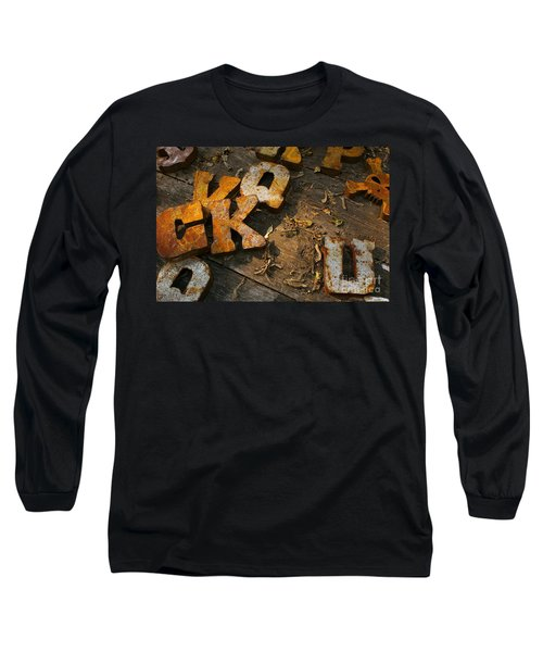 Scambled Letters Long Sleeve T-Shirt by Randy Pollard