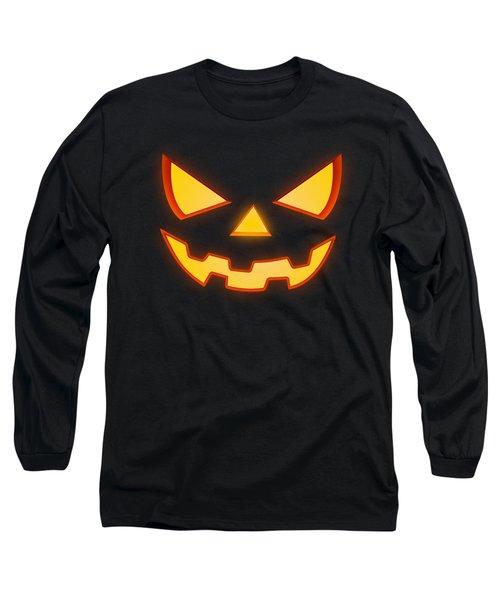 Scary Halloween Horror Pumpkin Face Long Sleeve T-Shirt