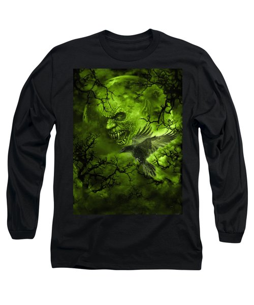 Scary Moon Long Sleeve T-Shirt