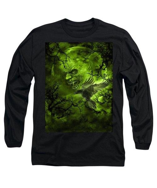 Scary Moon Long Sleeve T-Shirt