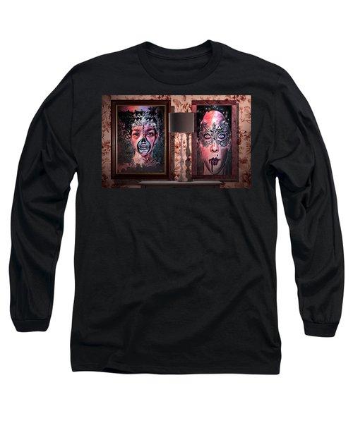 Scary Museum Wallart Long Sleeve T-Shirt