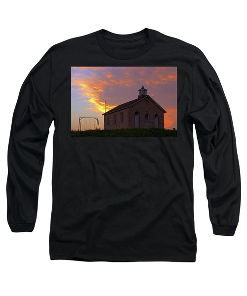 Long Sleeve T-Shirt featuring the photograph School Sunset by Christopher McKenzie
