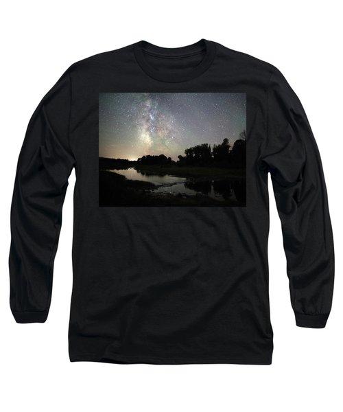Schwabacher's Landing At Night Long Sleeve T-Shirt