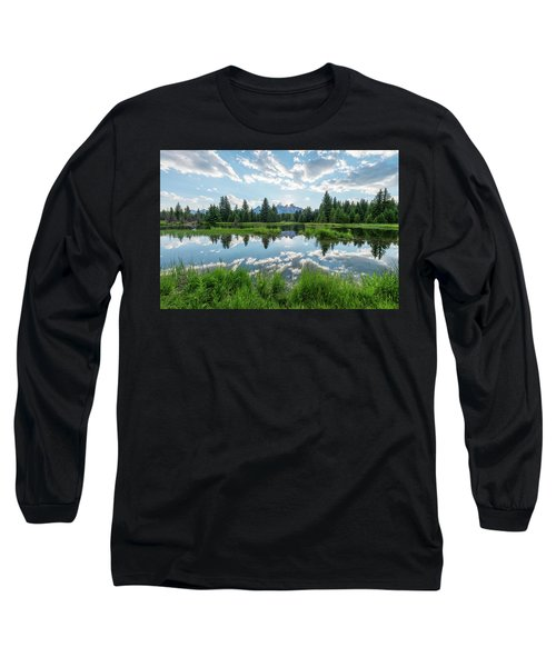 Long Sleeve T-Shirt featuring the photograph Schwabacher's Landing by Dustin LeFevre