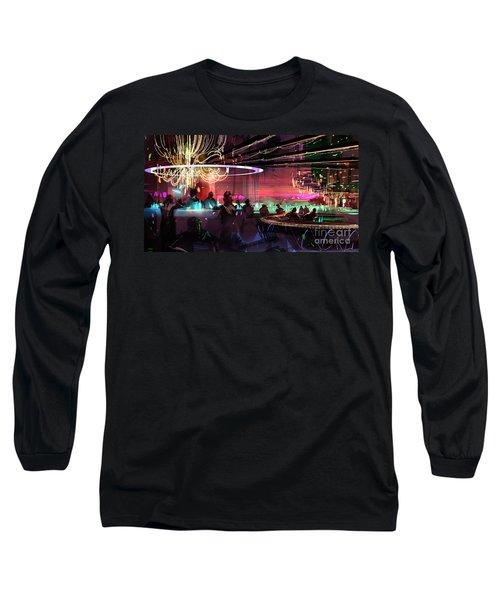 Sci-fi Lounge Long Sleeve T-Shirt