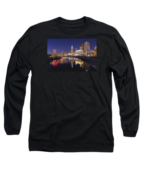 Long Sleeve T-Shirt featuring the photograph  Scioto Reflections - Columbus by Alan Raasch