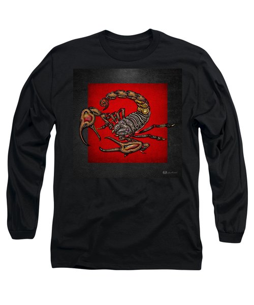 Scorpion On Red And Black  Long Sleeve T-Shirt
