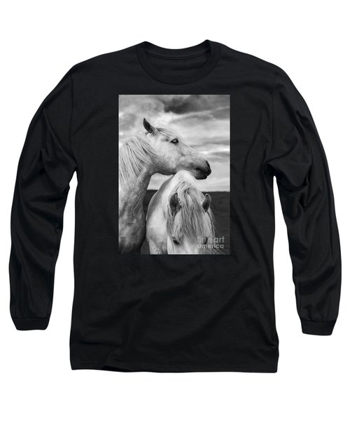 Scottish Horses Long Sleeve T-Shirt by Diane Diederich