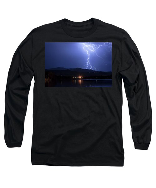 Long Sleeve T-Shirt featuring the photograph Scribble In The Night by James BO Insogna
