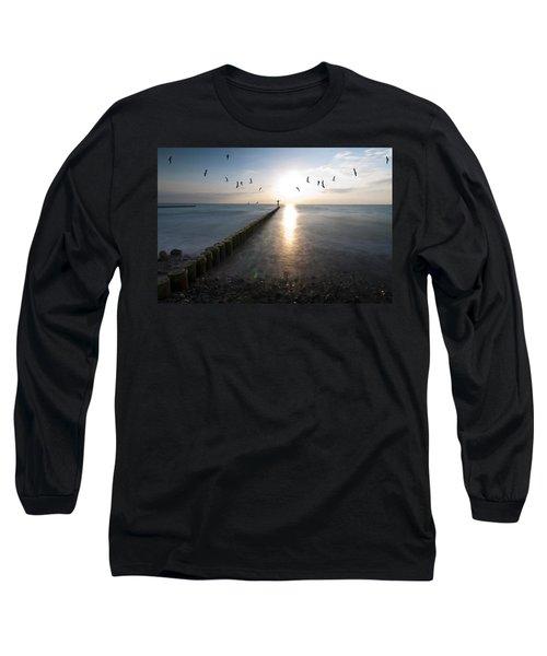 Sea Birds Sunset. Long Sleeve T-Shirt