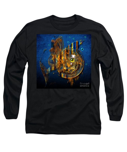 Long Sleeve T-Shirt featuring the painting Sea Fish by Alexa Szlavics