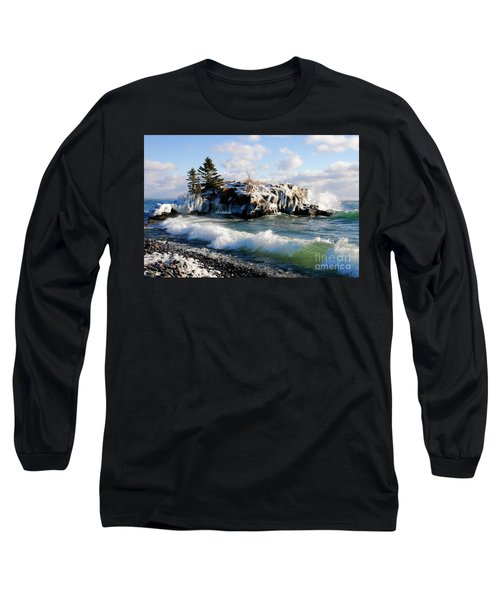 Sea Smoke At Hollow Rock Long Sleeve T-Shirt