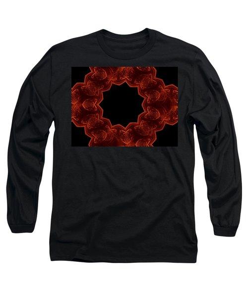Seamless Kaleidoscope Copper Saturated Long Sleeve T-Shirt