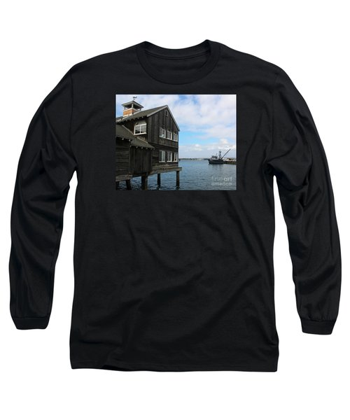 Seaport Village San Diego Long Sleeve T-Shirt by Cheryl Del Toro