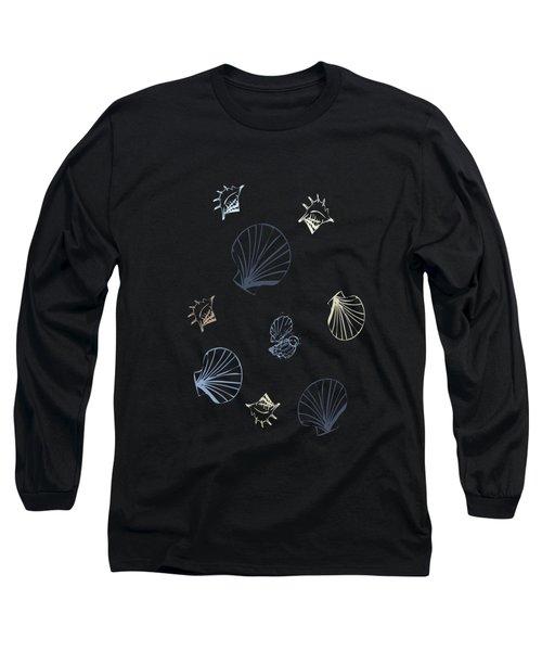 Seashell Pattern Long Sleeve T-Shirt