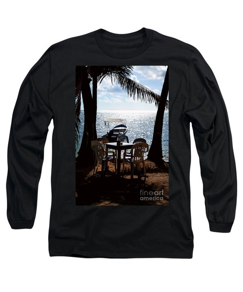Long Sleeve T-Shirt featuring the photograph Seaside Dining by Lawrence Burry
