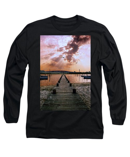Seaside Long Sleeve T-Shirt by Steve Karol