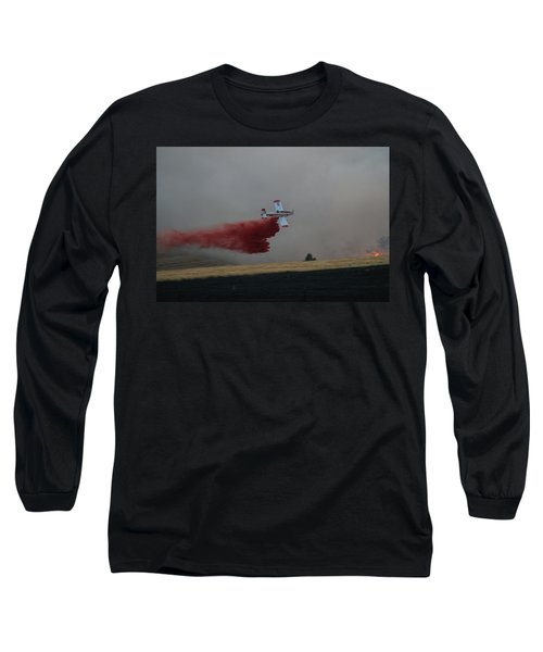 Long Sleeve T-Shirt featuring the photograph Seat Drops On Indian Canyon Fire by Bill Gabbert