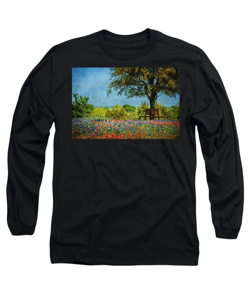 Long Sleeve T-Shirt featuring the photograph Seating For Two by Ken Smith
