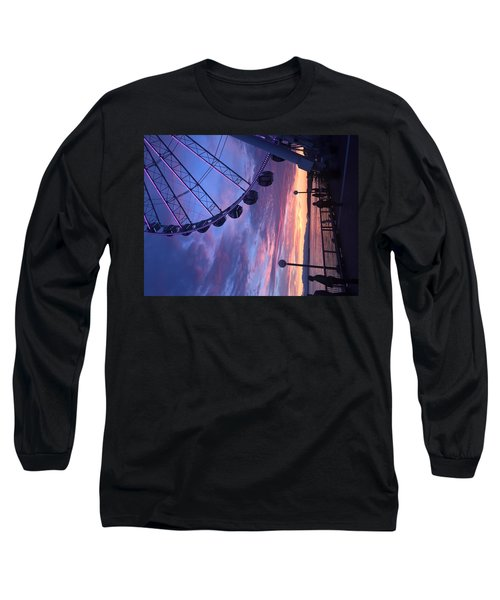 Seattle Ferris Wheel Long Sleeve T-Shirt