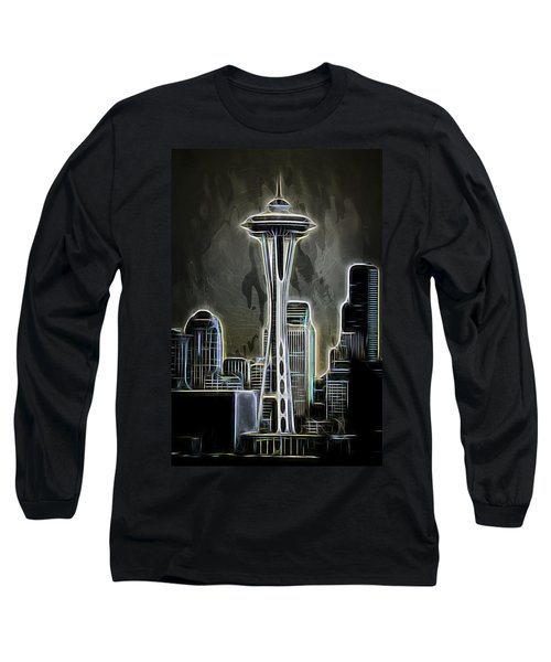 Water Long Sleeve T-Shirt featuring the photograph Seattle Space Needle 2 by Aaron Berg