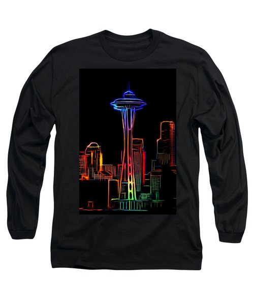 Water Long Sleeve T-Shirt featuring the photograph Seattle Space Needle 4 by Aaron Berg